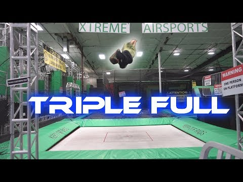 First Triple Full | Rail Back Hand Spring Attempts