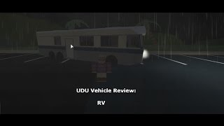 Roblox Ultimate Driving - Vehicle Review - The RV
