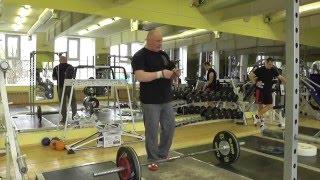 Тяжелая атлетика. Отрабатывай подрыв с лямками + 30 рывков 43 кг. YRR