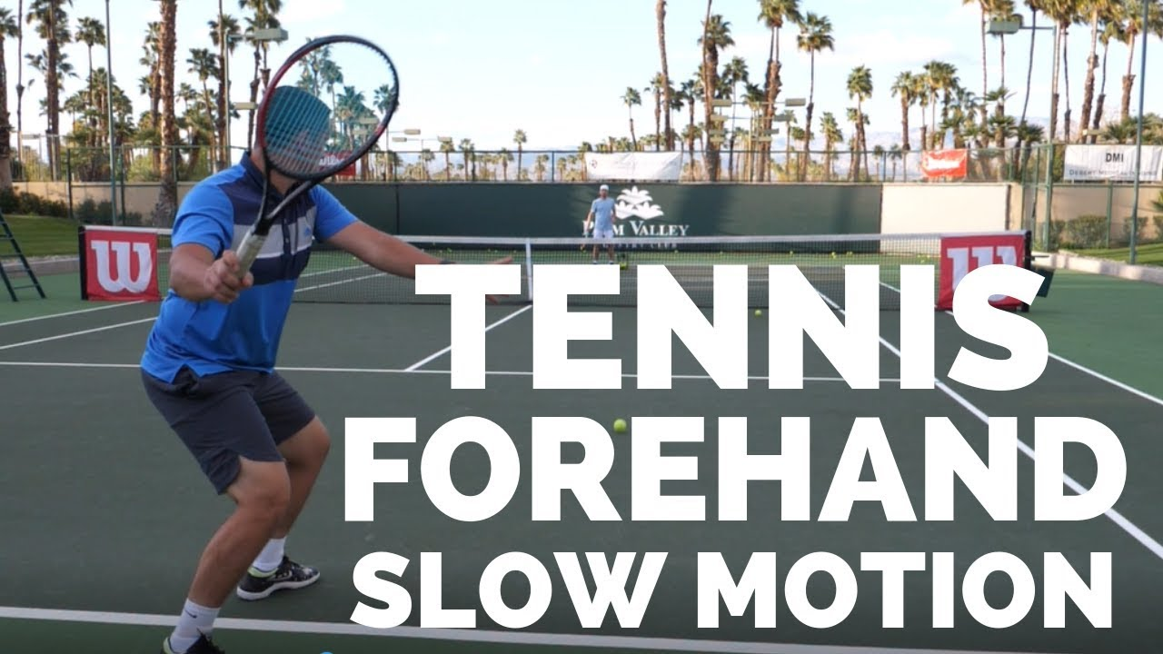 Tennis Forehand Slow Motion Court Level View Coach Simon Vloggest