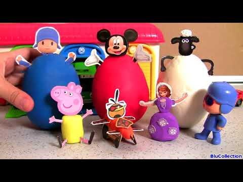 Surprise Clay Buddies Mickey Mouse, POCOYO, Peppa Pig, Sofia, Shaun Sheep Play-Doh Huevos Sorpresa
