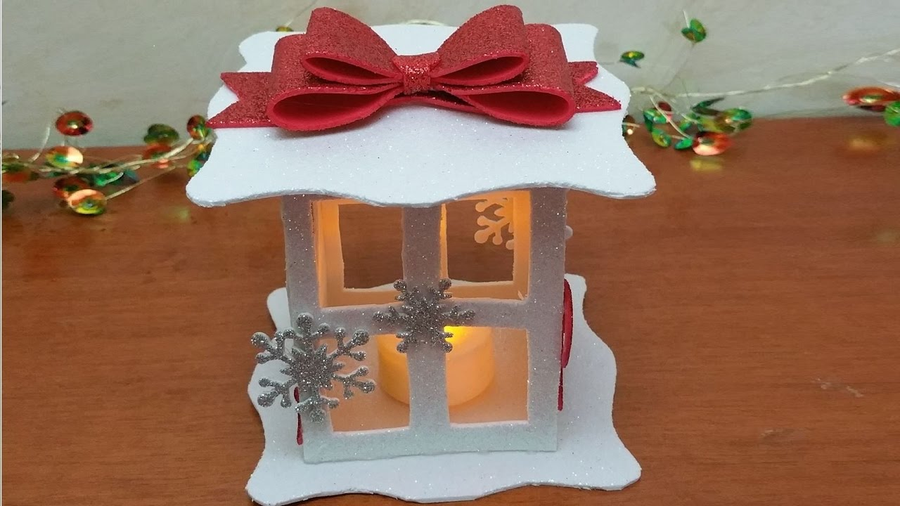 Estremamente Christmas lantern in crepla rubber - fommy, Christmas DIY - YouTube ZK26