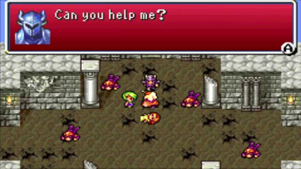 Final Fantasy 4 Advance (GBA) Part 4 The Waterfall Cavern and the Attack on Damcyan Castle - YouTube