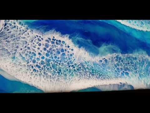 #21. Quick Frothy White Waves - Resin Pour Tutorial