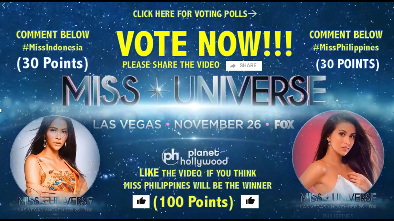 Miss Universe 2017 Voting Is Now Open Miss Philippines Miss