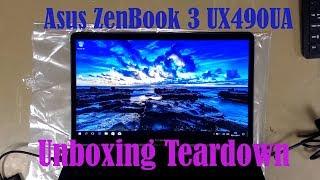 Asus ZenBook 3 UX490UA Deluxe Unboxing Teardown