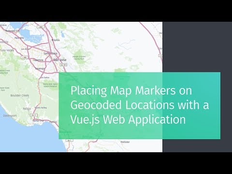 Placing Map Markers with Geocoded Addresses using Vue.js and HERE thumbnail