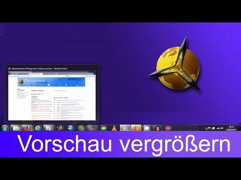 Windows 7: Vorschaufenster vergrößern