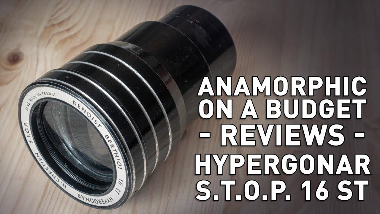 Hypergonar S T O P  16 ST - Vintage 2x Anamorphic Lens - смотреть