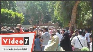 حديقة حيوانات الجيزة تستقبل 100 ألف زائر فى أول وثانى أيام العيد