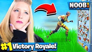 Teaching my wife how to play Fortnite...