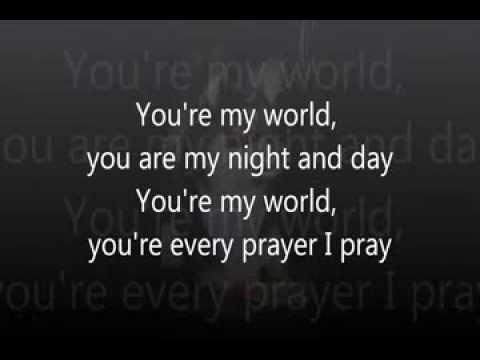 Youre My World Tom Jones Videoke Karaoke Youtube