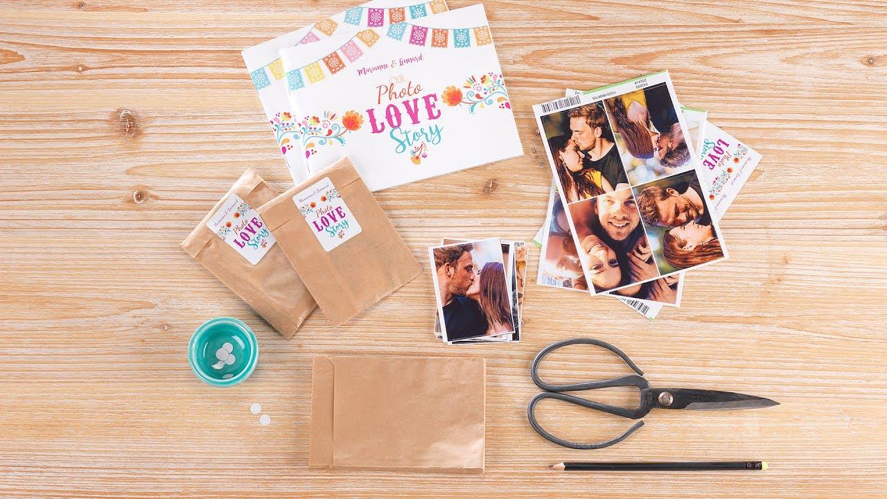 DIY Hochzeitsspiele FotostickerAlbum im PaniniLook  YouTube