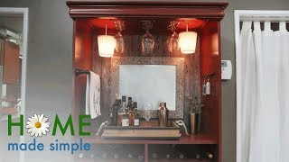 Armoire to Bar Transformation   Home Made Simple   Oprah Winfrey Network