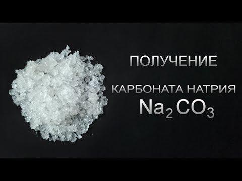 Получение карбоната натрия Na2CO3