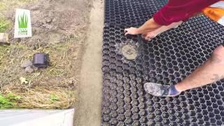 geoSYSTEM montaż eko kratek na wjeździe do garazu