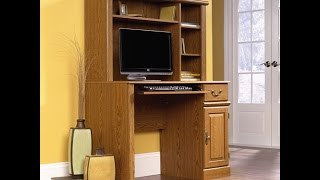 Buy Computer Desk | Sauder Orchard Hills Computer Desk With Hutch, Carolina Oak