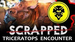 SCRAPPED Jurassic Park Triceratops Encounter at Universal Studios