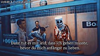 Marshmello x Jonas Brothers - Leave Before You Love Me (Deutsche Übersetzung)