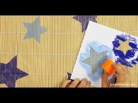 Plantillas De Estrellas Para Decorar.Como Pintar Con Plantillas De Papel