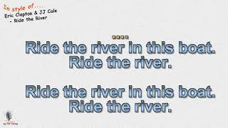 Eric Clapton & JJ Cale - Ride the River - Cover