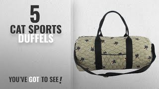 Top 10 Cat Sports Duffels [2018]: Orota Travel Tote Luggage Hobo Gym Duffle Bag Sports Duffels with