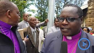 Delegates from Anglican Church of Kenya donate food to survivors of Solai dam disaster