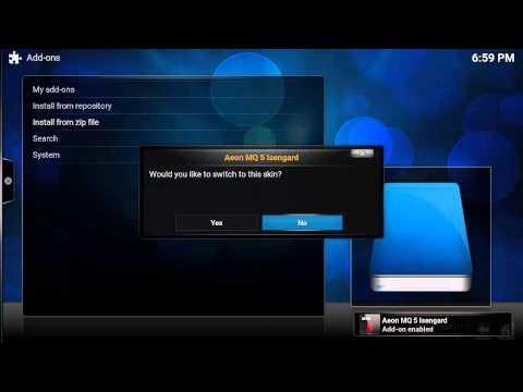 error install skin via zip files