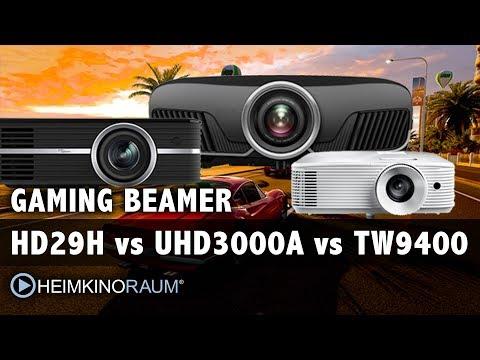 Gaming Beamer: Optoma HD29H vs Optoma UHD 3000A vs Epson EH-TW9400 im Vergleich