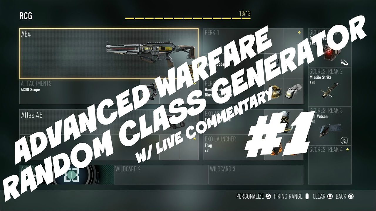 Random Class Generator W Live Commentary 1 Cod Aw