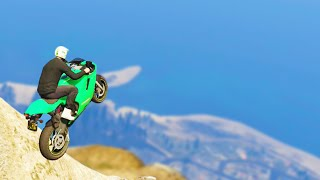 Flying to Heaven with Bikes! (GTA 5 Funny Moments)