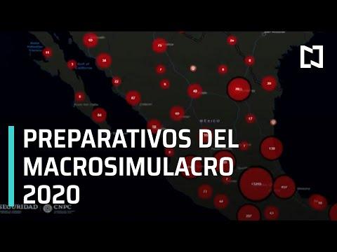 Preparativos del Macrosimulacro 2020 - Las Noticias