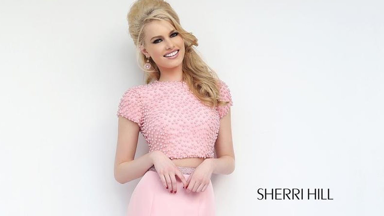 Sherri Hill 32248 Prom Dress Cutout Back Two-Piece Mermaid - YouTube