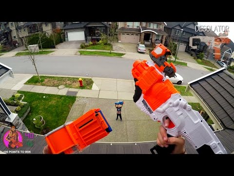Thumbnail: Nerf War: BROTHER vs SISTER | First Person 4K GUN GAME! (Call of Duty)