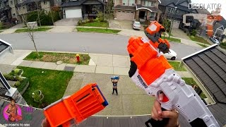 Nerf War: BROTHER vs SISTER | First Person Shooter in 4K!