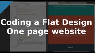 [ Outdated -- see description ]Coding a Flat Design One page website