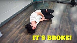 HE BROKE HIS LEG!!! - VLOGMAS