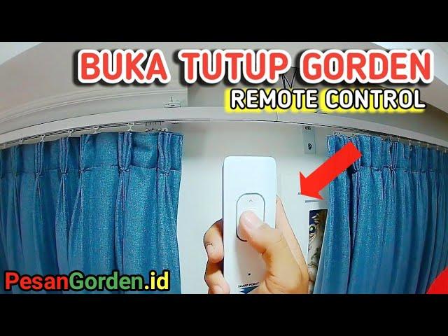 Gorden Remote - Pemasangan Rel Gorden Motorized Curtain Track 082310989451 #gudanggorden