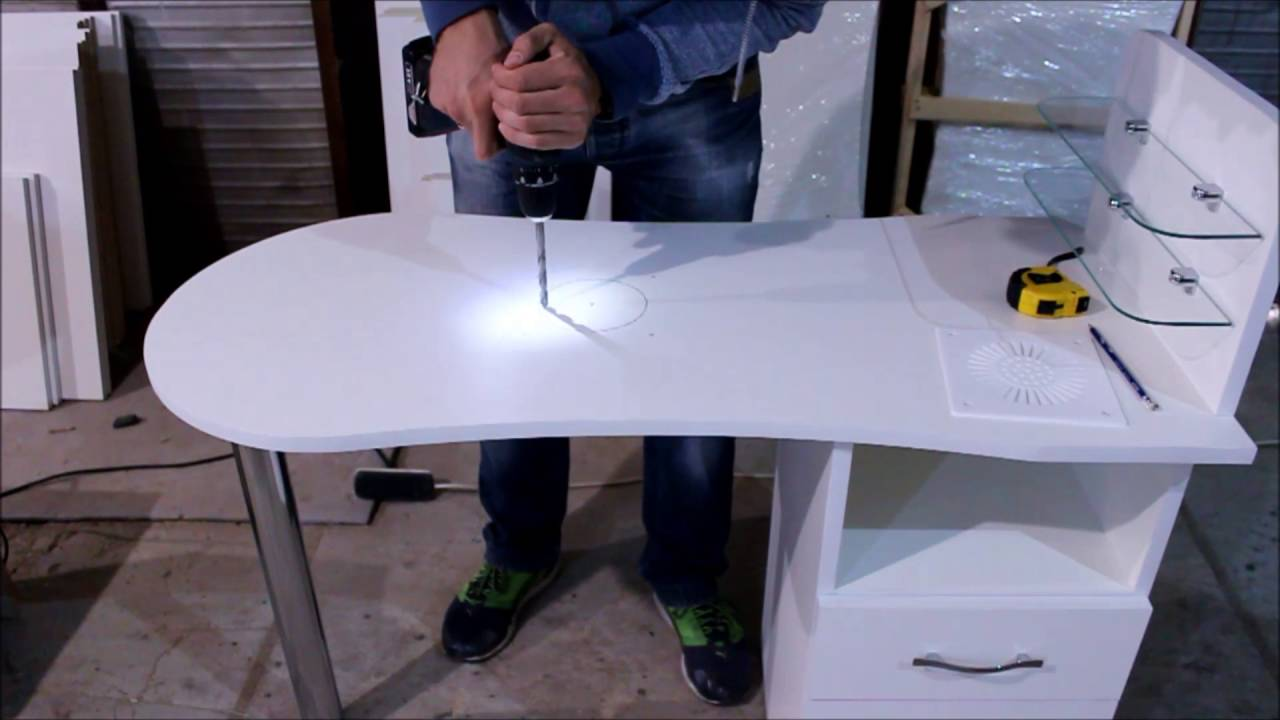 Вытяжка для маникюра с лампой 858-6, Simei - YouTube