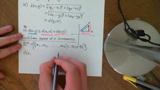 Euclidean n-Space as a Metric Space