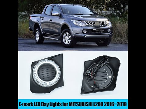 for-mitsubishi-l200-2016~2019-led-drl-daytime-running-lights-12v-emark-proof-replace-fog-lamp-covers