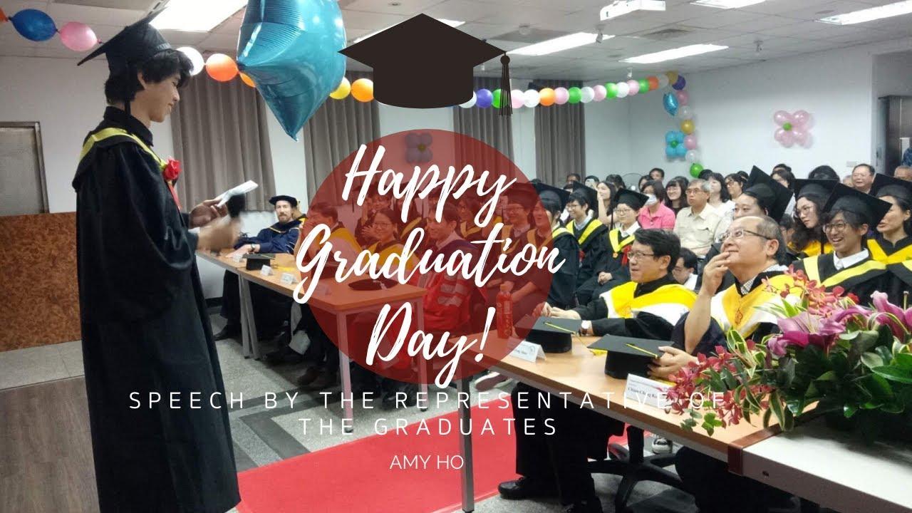 《NTUENT畢業季#5》 ~ 畢業典禮大學部代表致詞 Speech by the Representative of the Graduates - YouTube