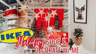IKEA HOLIDAY Shop With Me & DECORATE Home Decor