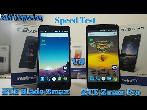ZTE Blade Zmax VS ZTE Zmax Pro Speed Test and Build Comparison