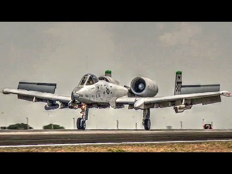 U.S. Air Force A-10s Landing At Clark Air Base, Philippines (2016)
