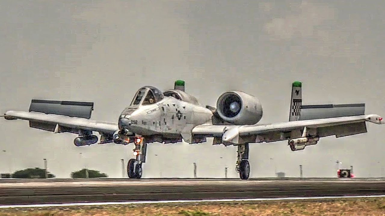 U S  Air Force A-10s Landing At Clark Air Base, Philippines (2016)