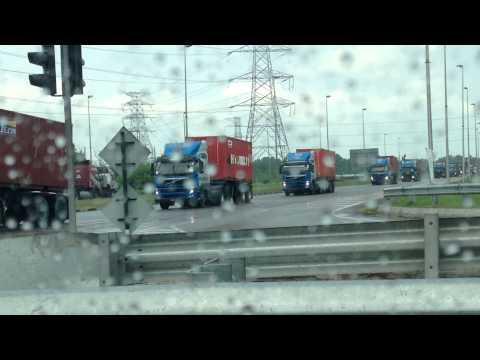 Hyundai lorries parade in Pulau Indah, Port Klang, Selangor