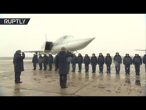 Russian TU-22M3 bombers arrive home after Syrian mission