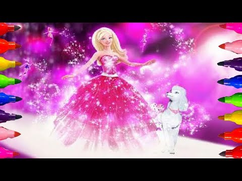 Barbie Logo Coloring Pages : Disney princess barbie coloring pages kids learning video art w