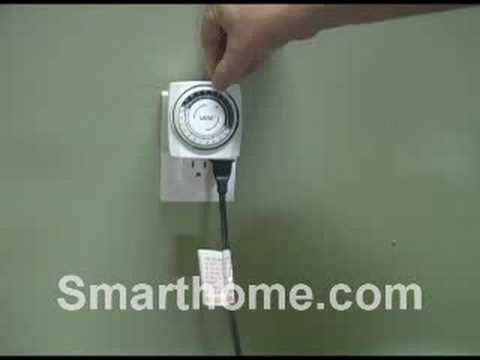 Indoor Mini Mechanical Plug In Timer High Wattage Youtube
